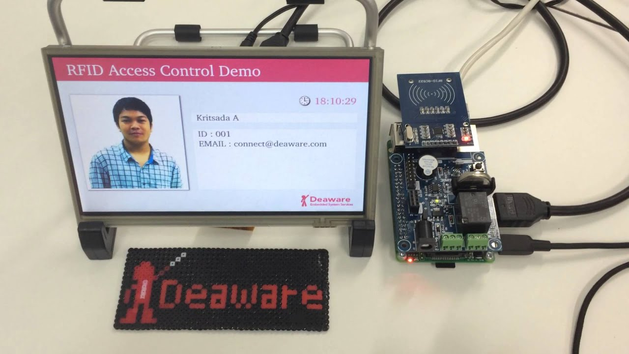 Deaware Raspberry Pi B First Rfid Demo Youtube