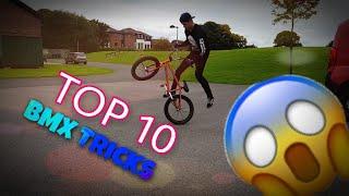 TOP 10 EASY BMX TRICKS TO LEARN (BEGINNER)