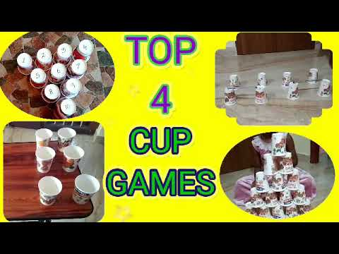 Indoor games for kids||Cup Games||Kids game||Simple games for kids|| Top 4 Indoor Games for Kids||