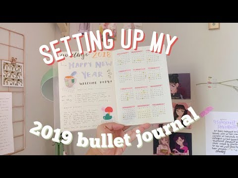 setting up my 2019 bullet journal
