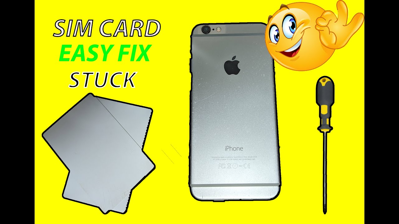How to remove Stuck SIM CARD in IPHONE 5, 6, 6s ,7 Fast and Easy Repair    اصلاح هاتف ايفون 📱 ...