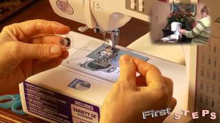 FIRST STEPS with Brother CE8080PRW Computerized Sewing Machine