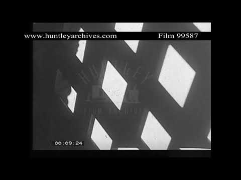 Mood shots of women's prison from 1930.  Archive film 99587