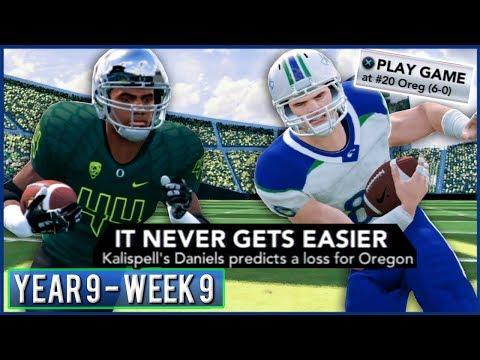 Kalispell vs Undefeated Oregon - NCAA Football 14 Dynasty Year 9 - Week 9 @ #20 Oregon | Ep.158