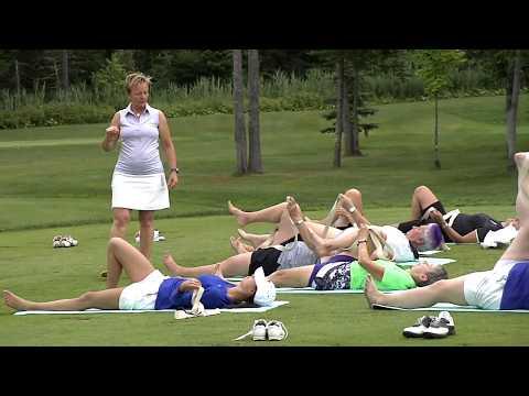 L'ESPRIT SPORTIF - TVA - Académie de golf La Tempête: Golf-Yoga -- Gymnastique: Élena Grosheva