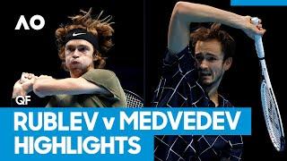 Andrey Rublev vs Daniil Medvedev Match Highlights (QF) | Australian Open 2021