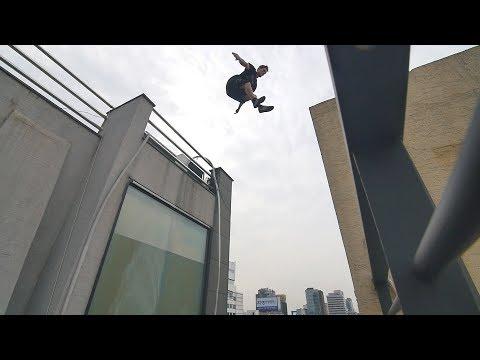 He Almost Slipped off a Skyscraper! 🇰🇷