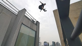 He Almost Slipped off a Skyscraper! 🇰🇷