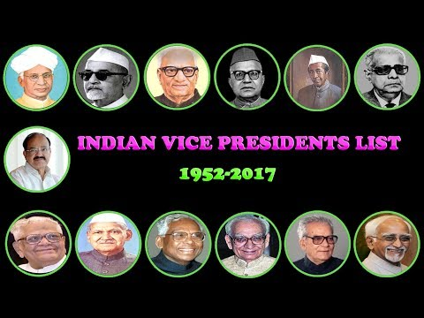 Vice Presidents of INDIA List With Photos (1952 2017) || Indian Vice President List