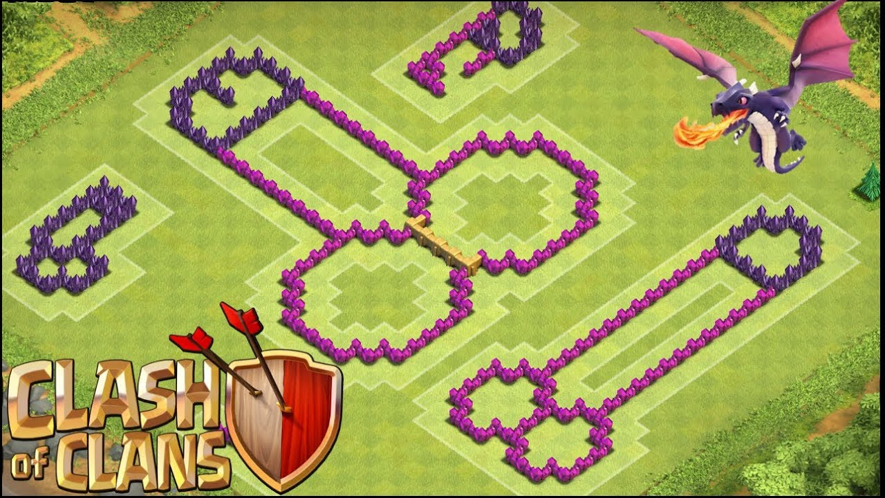 clash of clans funny th8 troll base the weiner terrible for