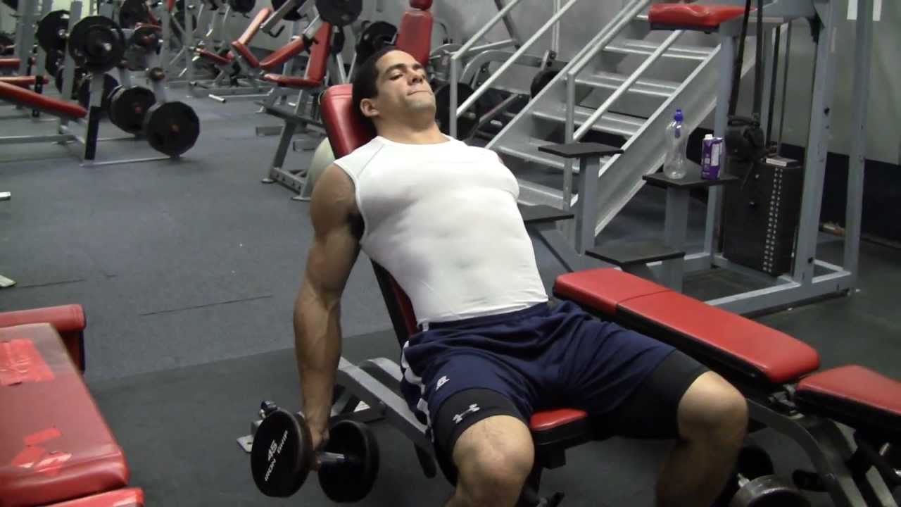 Spider Curls Incline Bench Part - 29: Incline Dumbbell Curls W/ Offset Grip - Form Over Weight! - YouTube