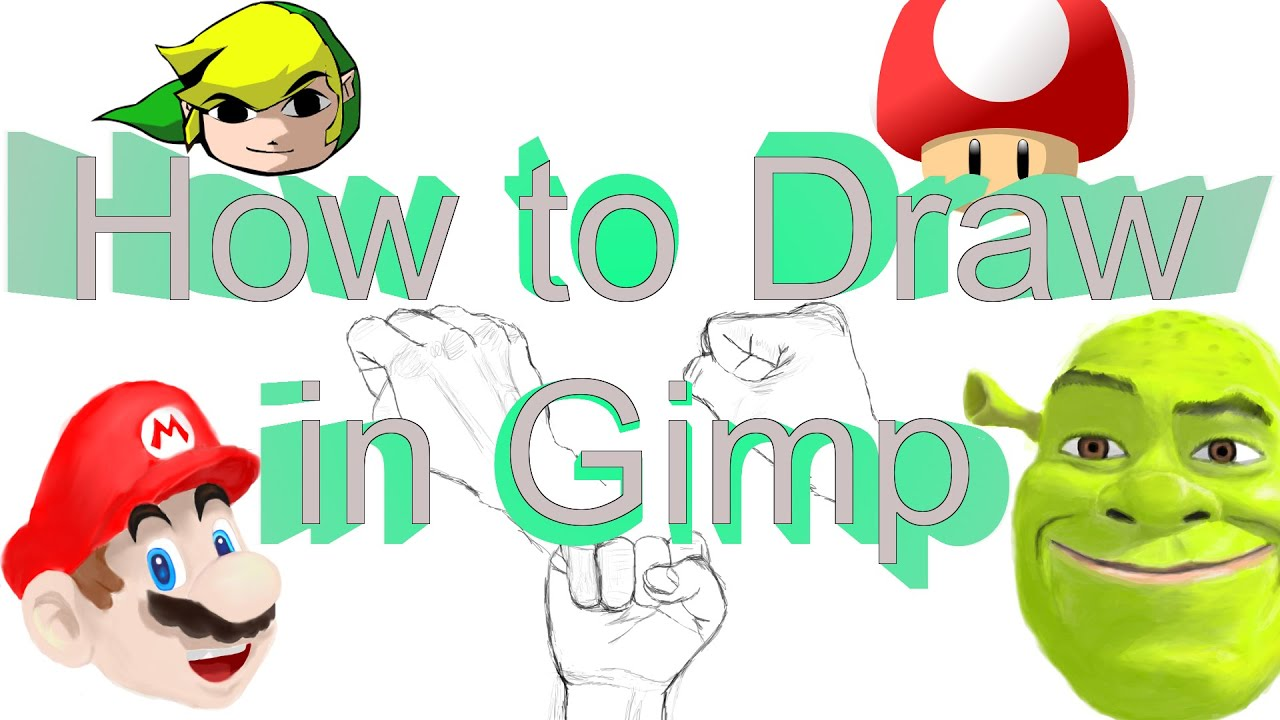 How to use Gimp like an Artist (How to draw in Gimp)