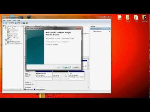 How to partition a hard drive on Windows 7