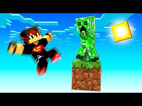 ماين كرافت : تحدي بلوك واحد فقط لكن الكريبر فاجئنا   Minecraft !! 😱🔥