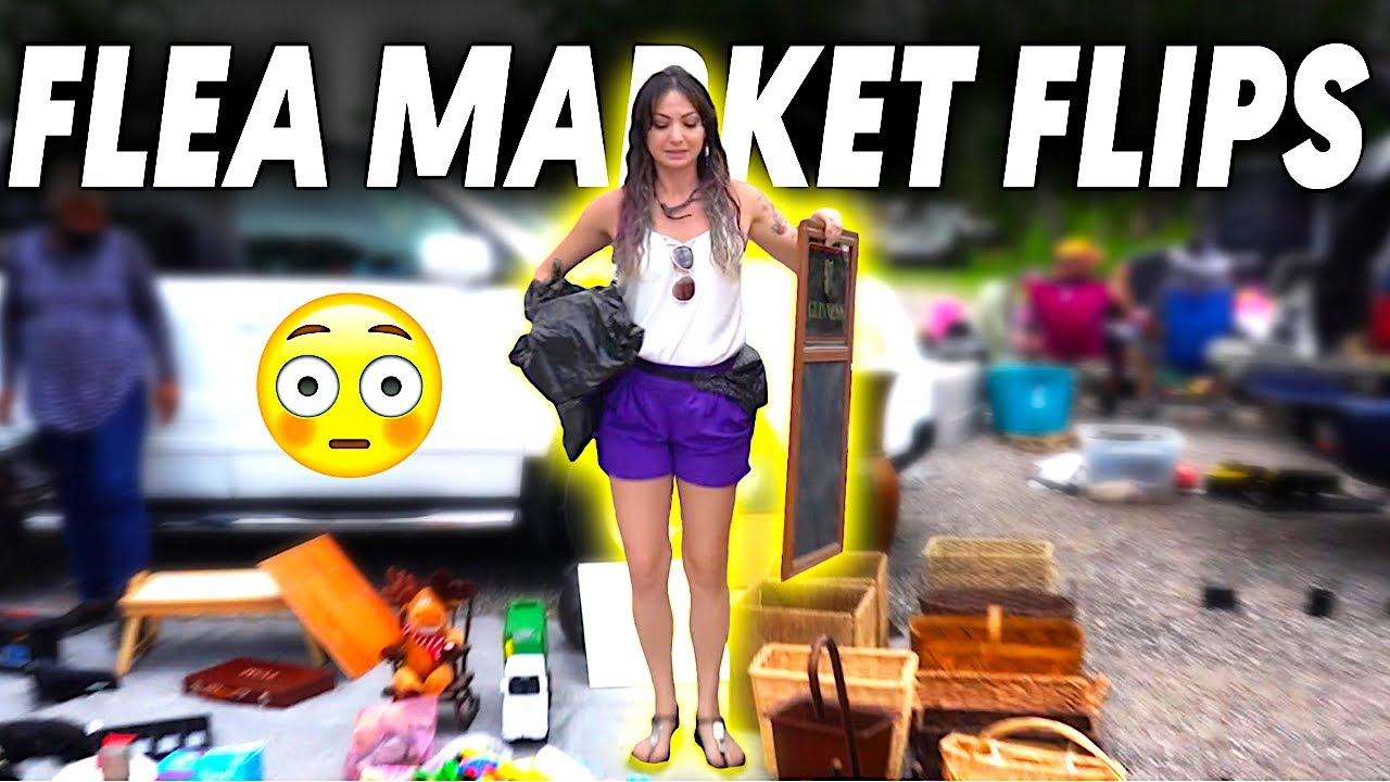 $60 FLEA MARKET FLIP CHALLENGE!