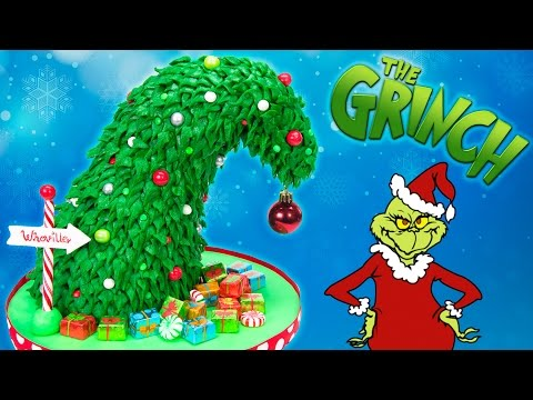 GRINCH Christmas Tree Cake (How the Grinch Stole Christmas Cake)