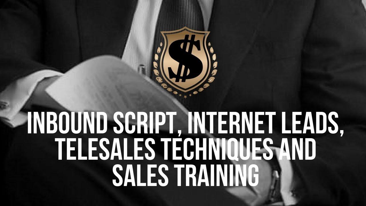 inbound script internet leads telesales techniques and sales