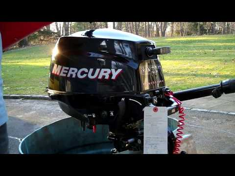 Leftover 2010 2.5 HP 4-stroke Mercury outboard first start
