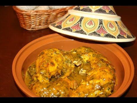 recette-tagine-de-poulet-rôti-au-persil---grilled-chicken-tagine-with-parsley---recettes-maroc