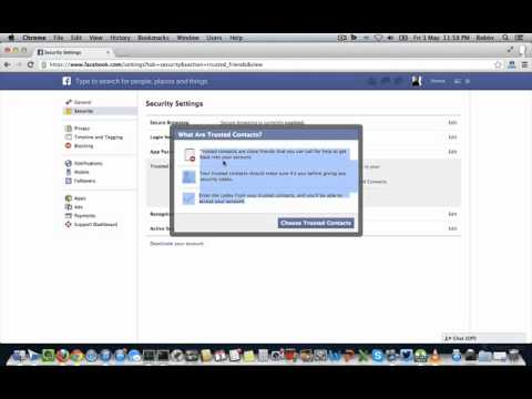 How to use Facebook Trusted Contacts to Recover Facebook account ?