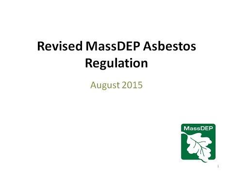 Revised MassDEP Asbestos Regulation