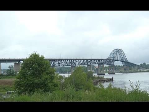 Crossing Centennial Bridge on NB Highway/Route 11 in Miramichi, NB 07-05-12
