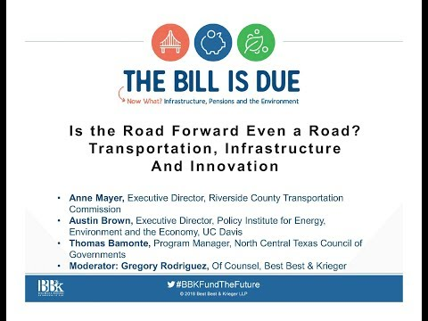 BB&K's TBID: Is the Road Forward Even a Road? Transportation, Infrastructure and Innovation