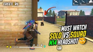 Solo vs Squad OverPower Play Hard HeadShot Gameplay - Garena Free Fire
