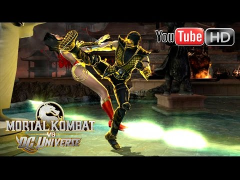 Mortal Kombat VS DC Universe [Xbox 360] - ✪ Scorpion Vs Wonder Woman ✪ | Full HD