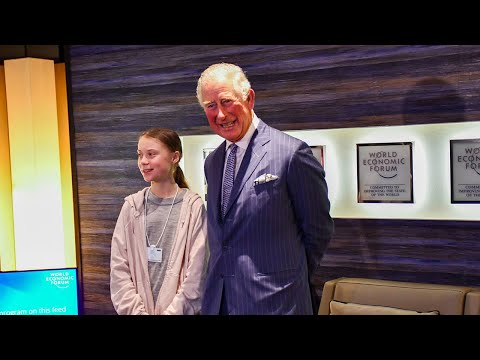 video: Prince Charles meets Greta Thunberg at Davos World Economic Forum
