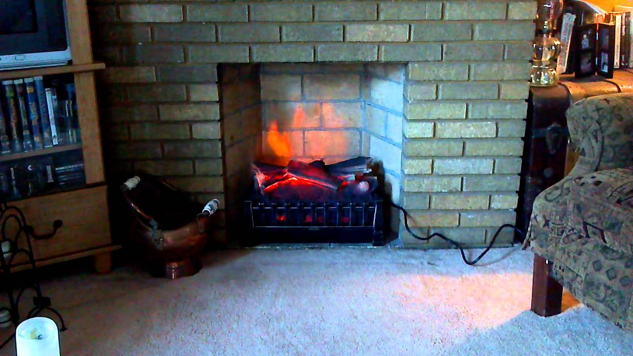 DuraFlame electric fireplace insert model DFI020ARU - YouTube