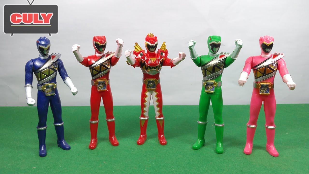 Bộ 5 Anh em siêu nhân chiến đội thú điện khủng long Power ranger Kyoryuger  toy for kid đồ chơi - YouTube