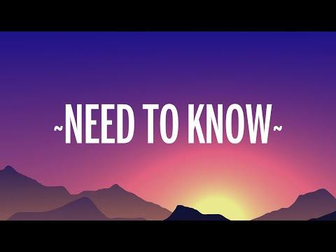 Doja Cat - Need To Know (Lyrics) indir