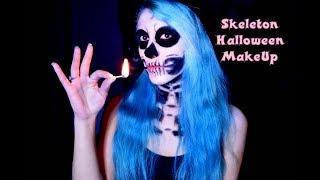 Skeleton Halloween MakeUp / Макияж на хэллоуин скелета