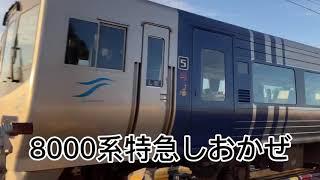 『電車』8000系特急しおかぜ通過‼️