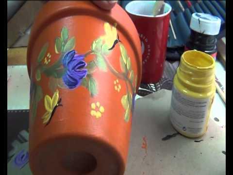 Como pintar flores te muestra paso a paso como 1 m s 1 - Como pintar azulejos a mano ...