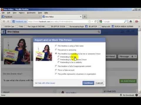 Cara Melaporkan Akun Fb Palsu Reporting Fake Fb Account Youtube