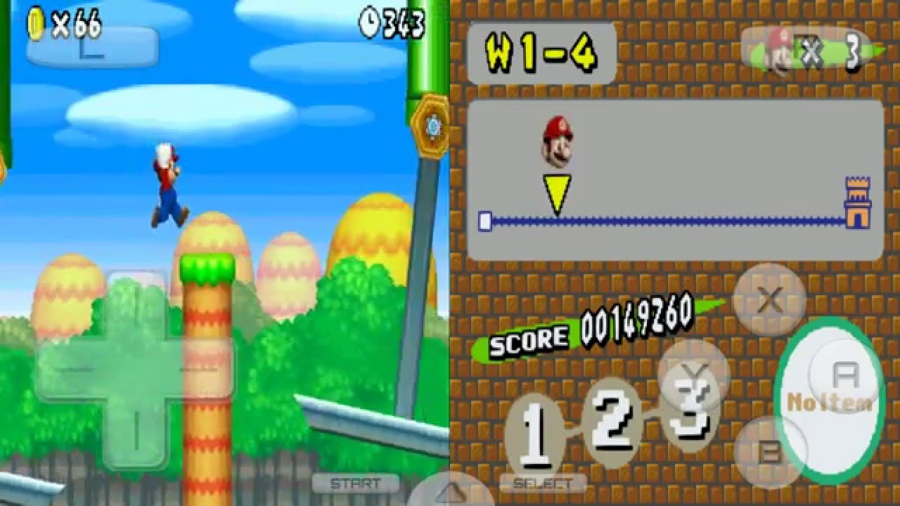 DRASTIC New Super Mario Bros Deluxe (DS hack) no Android