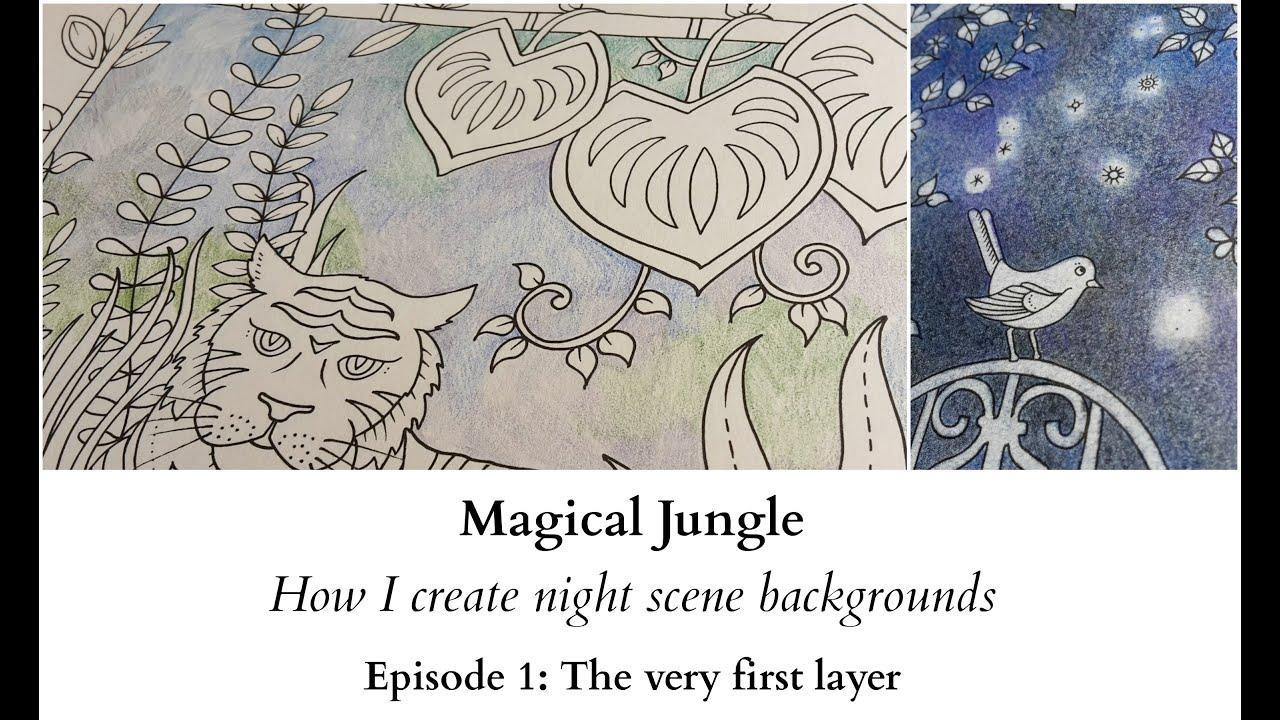 magical jungle how i create night scene backgrounds ep 1 the