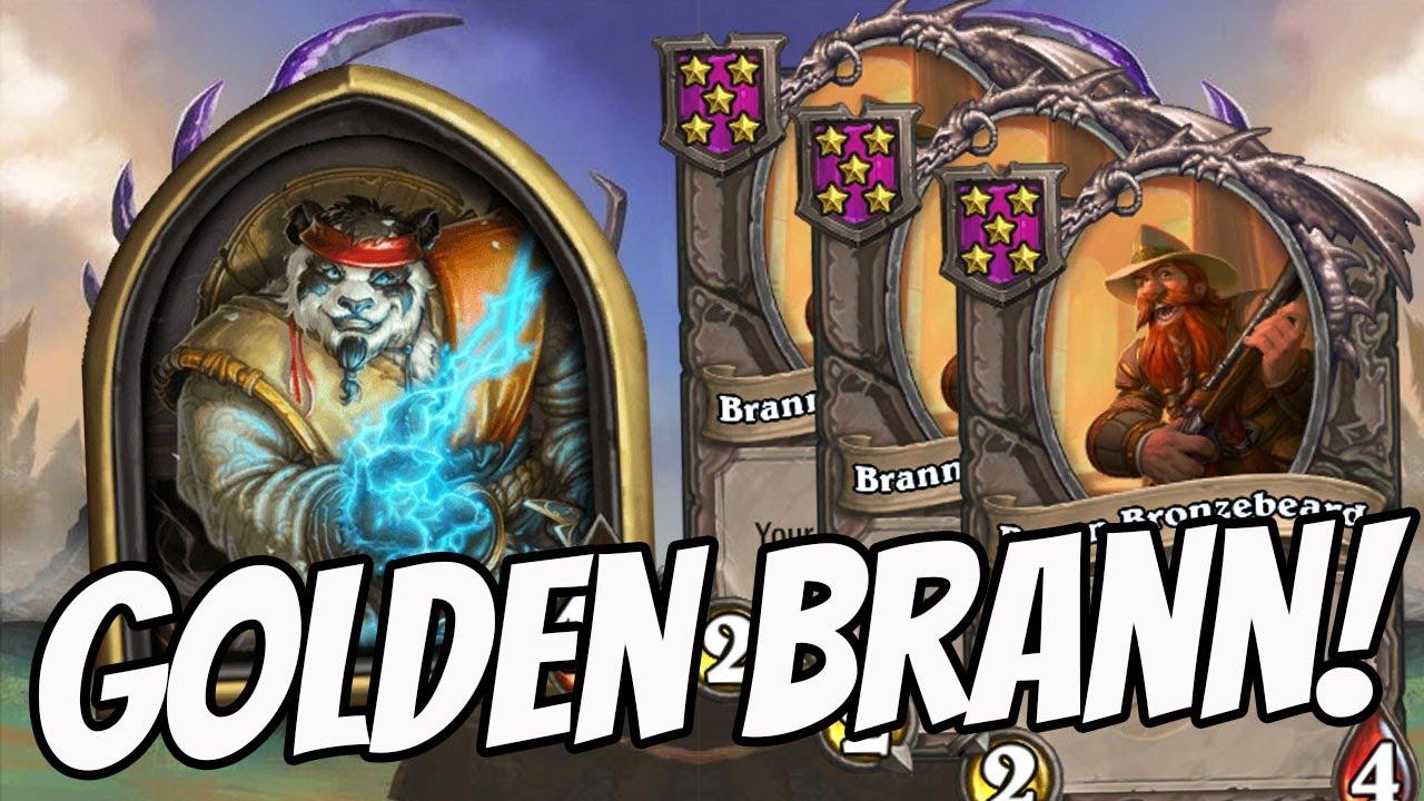 INSANE GOLDEN BRANN MENAGERIE! Hearthstone Battlegrounds