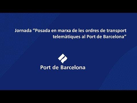 Posada en marxa de les ordres de transport telemàtiques al Port de Barcelona