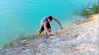 Супермен голубые озера)2(Прыжки на голубых озерах., 2012-06-19T09:16:18.000Z)