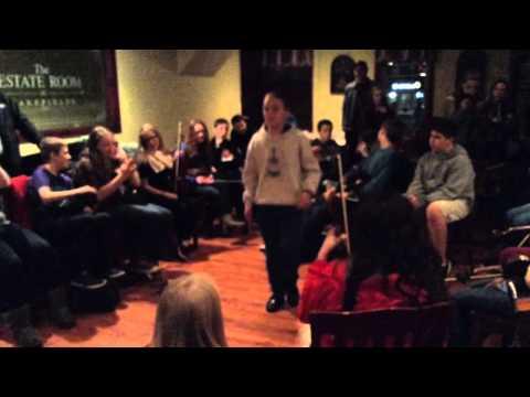 Sean-nos dancing at Trad Youth Exchange Irish session Upsta