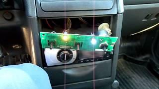 замена лампочки в блоке управления печкой ваз 2110 11 12
