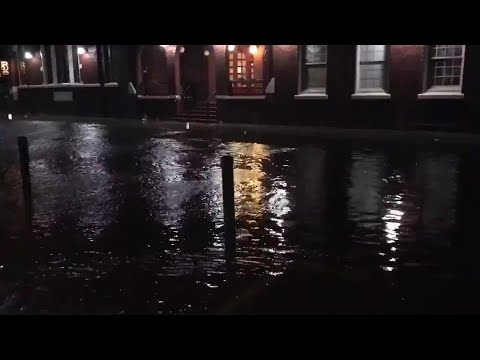 RAW VIDEO: Flooded Streets In Downtown Charleston