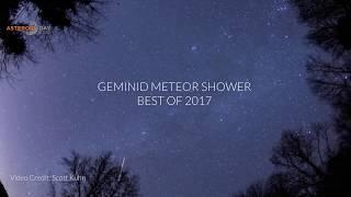 Geminid meteor shower 2017 - Best of
