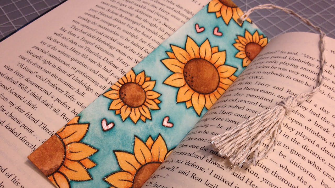 Watercolor bookmark patterns - How To Make A Watercolored Bookmark And A Tassel