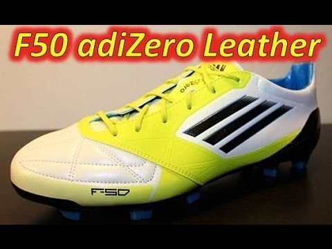 85b237fc2f6 Adidas F50 adizero miCoach Leather Running White Lab Lime Tech Onix -  UNBOXING - YouTube