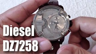 Diesel DZ7258 SBA Only The Brave oversized dual time zone watch