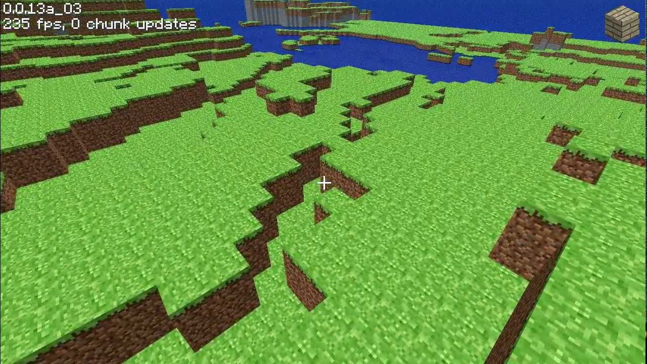 Minecraft Classic 0.0.13a Gameplay - YouTube